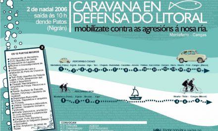 Caravana ciclista e automovilista pola defensa da Ría de Vigo