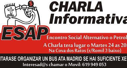 Verdegaia organiza en Vigo unha charla informativa sobre o Encontro Social Alternativo ao Petróleo