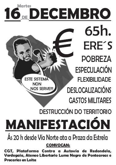 Manifestación en Vigo. Este sistema non nos serve