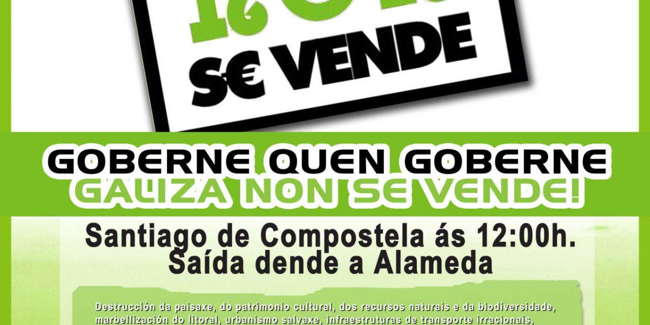 15 de febreiro. Manifestación Goberne quen goberne, Galiza Non se Vende