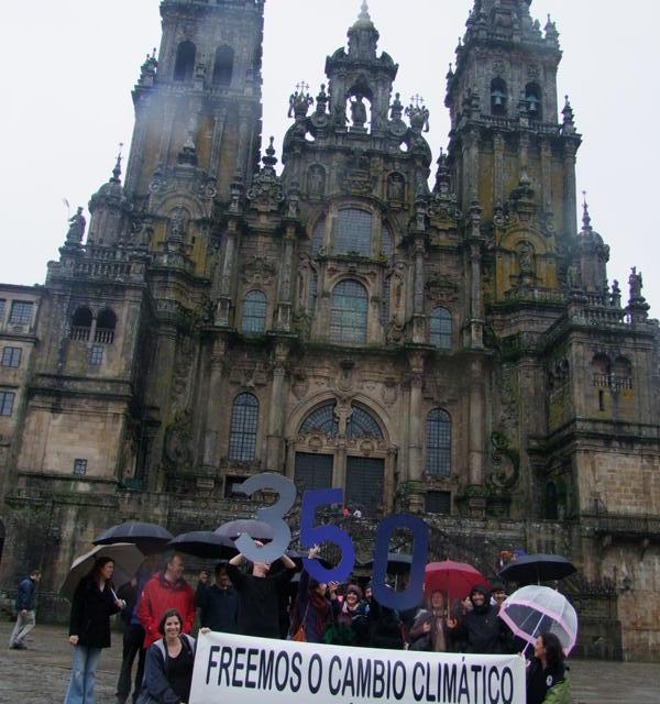 Verdegaia promove acción no Obradoiro no Día de Acción polo Clima