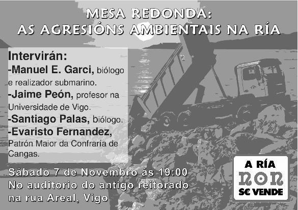 Mesa Redonda: As Agresións Ambientais na Ría