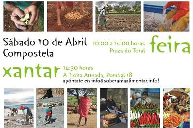 10 de Abril: Feira e Xantar pola Soberanía Alimentar e Contra os Transxénicos