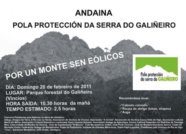 Andaina pola proteccion da Serra do Galiñeiro. 20 febreiro