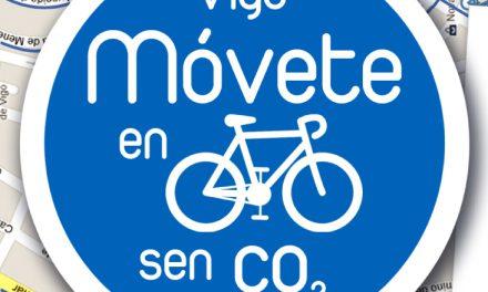 """Vigo 25 Setembro """" Móvete en bici sen CO2″."""