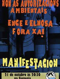 Non ás AAI para Ence-Elnosa. Manifestación. 21 de outubro. Pontevedra