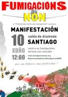 Únete ao enxamio que percorrerá Compostela este domingo 10 de xuño contra as fumigacións!
