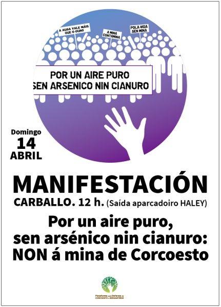 Verdegaia apoia a manifestación do día 14 contra a mina de ouro de Corcoesto en Carballo