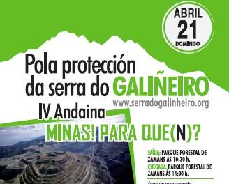 IV andaina pola protección da Serra do Galiñerio