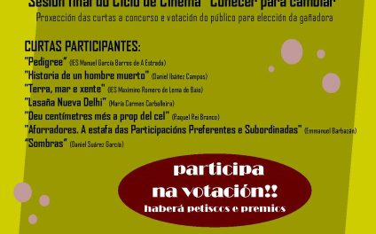 """Proxección das curtas enviadas ao concurso """"Filmar para Cambiar"""""""
