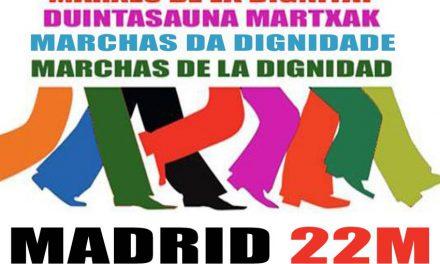 Verdegaia apoia a convocatoria das marchas da dignidade do 22 de marzo