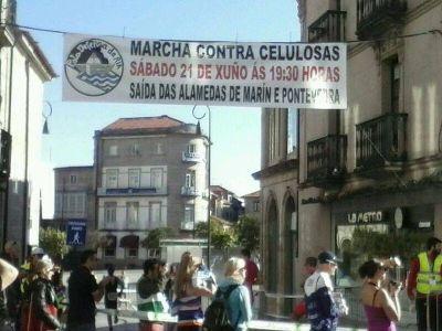 Marcha contra celulosas. Sábado 21 de xuño ás 19:30 h. Saídas das alamedas de Marín e Pontevedra