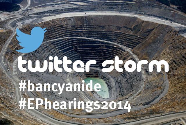Campaña para a prohibición da minaría con cianuro en Europa #bancyanide