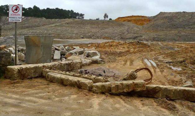 Detéctanse posibles infraccións ambientais nunha obra de recheo   no límite do LIC Gándaras de Budiño