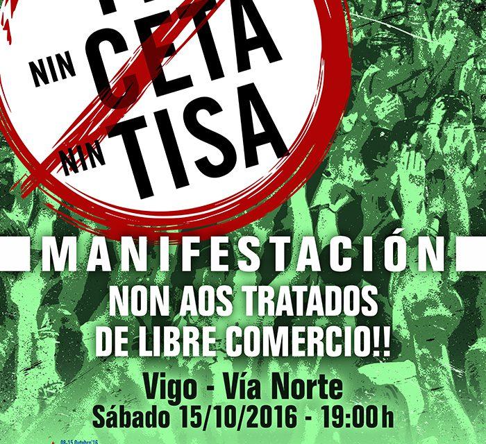 Nin TTIP, nin CETA, Nin TISA! Non aos Tratados de Libre Comercio!