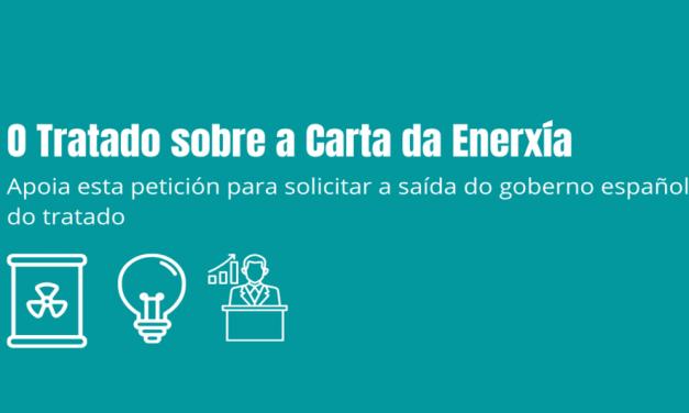 Solicitamos a saída de España do Tratado da Carta da Enerxía.