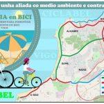 Colectivos ciclistas e ecoloxistas lanzan unha campaña para fomentar a mobilidade en bicicleta ás praias de Vigo
