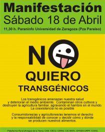 18 de Abril: Manifestación estatal Antitransxénicos en Zaragoza