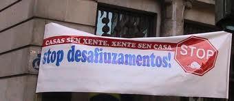 Apoiamos as mobilizacións das plataformas contra os desafiuzamentos.