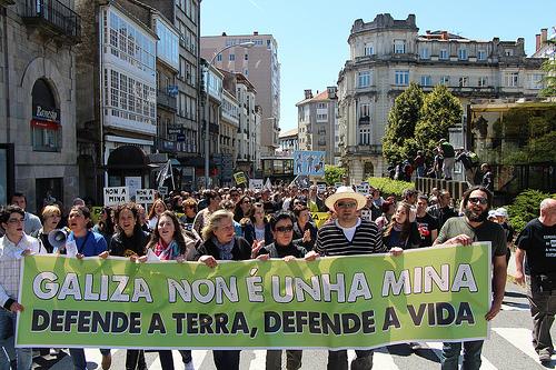 A Xunta criminaliza a loita contra a minaría salvaxe na Galiza