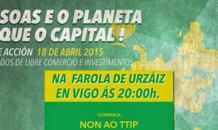 Vigo, 18A: Día de Acción Global Contra os Tratados de Libre Comercio e Investimentos