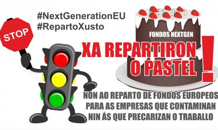 Accións de protesta contra o reparto dos fondos europeos de recuperación Next Generation