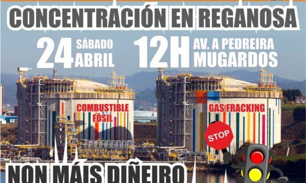 24A: Mobilización fronte a Reganosa para evitar que os fondos europeos se destinen a empresas contaminantes